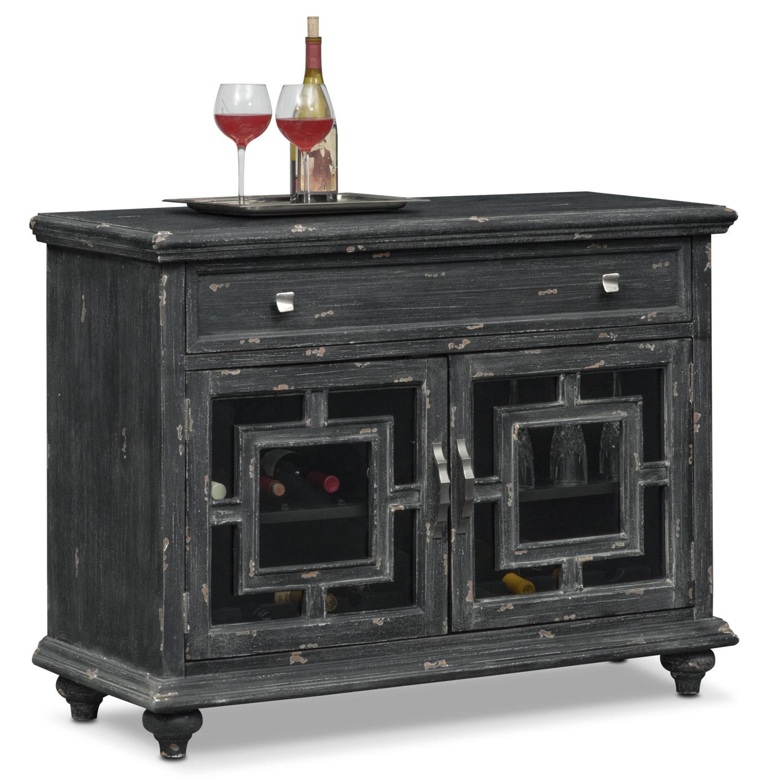 Regina Wine Cabinet - Black