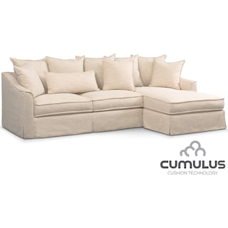 Brooke Cumulus 2-Piece Sectional with Right-Facing Chaise - Ivory