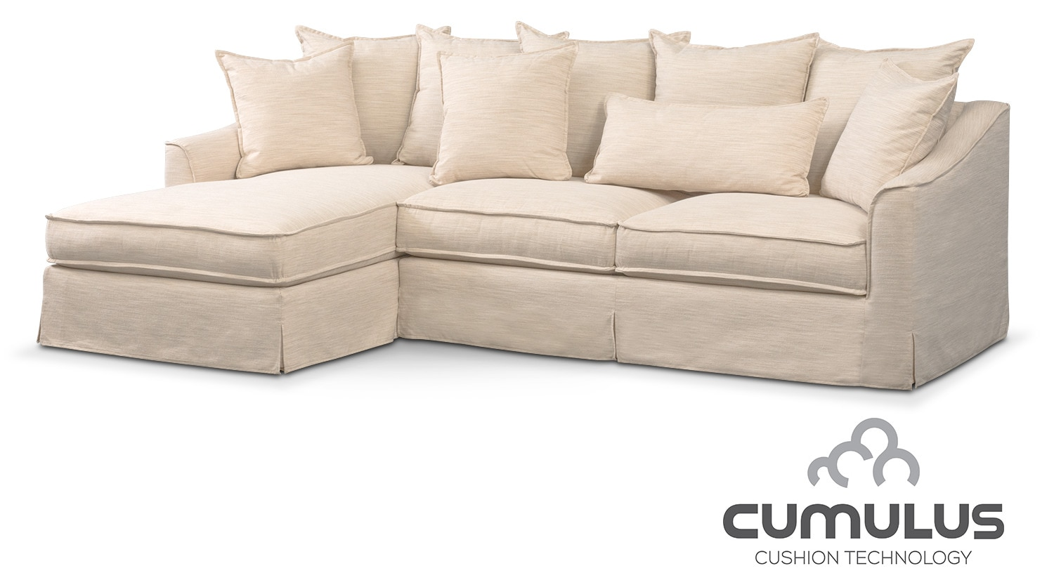 Brooke Cumulus 2-Piece Sectional with Left-Facing Chaise - Ivory