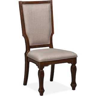 Vienna Upholstered Side Chair Merlot