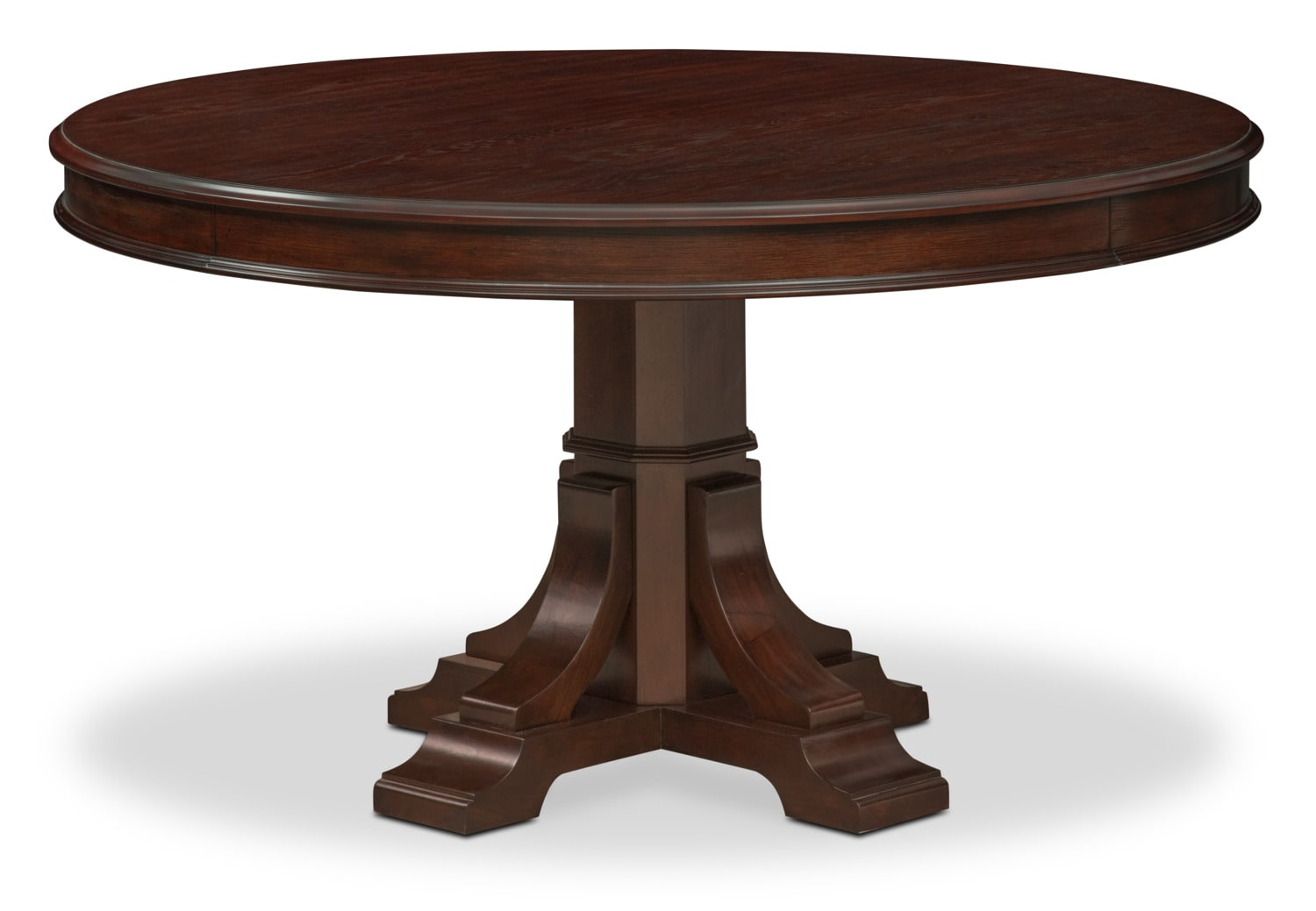 Wood Dining Room Tables Part - 16: Vienna Round Dining Table - Merlot