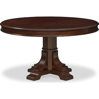 Vienna Round Dining Table - Merlot