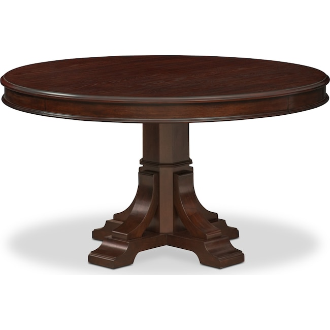 Dining Room Furniture - Vienna Round Dining Table - Merlot