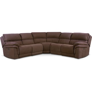 Monterey 5-Piece Power Reclining Sectional with 3 Reclining Seats - Mocha
