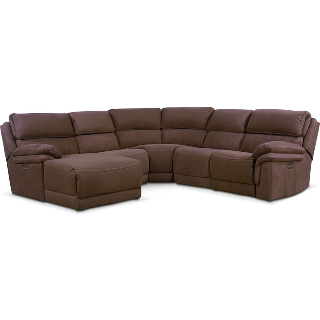 Monterey 5 piece power reclining sectional with left for 5 piece sectional sofa with chaise