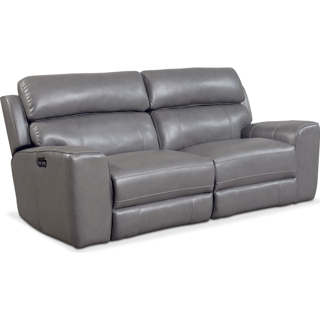 7203 Three Piece Sectional Sofa By Futura Leather: Newport 2-Piece Power Reclining Sofa - Gray
