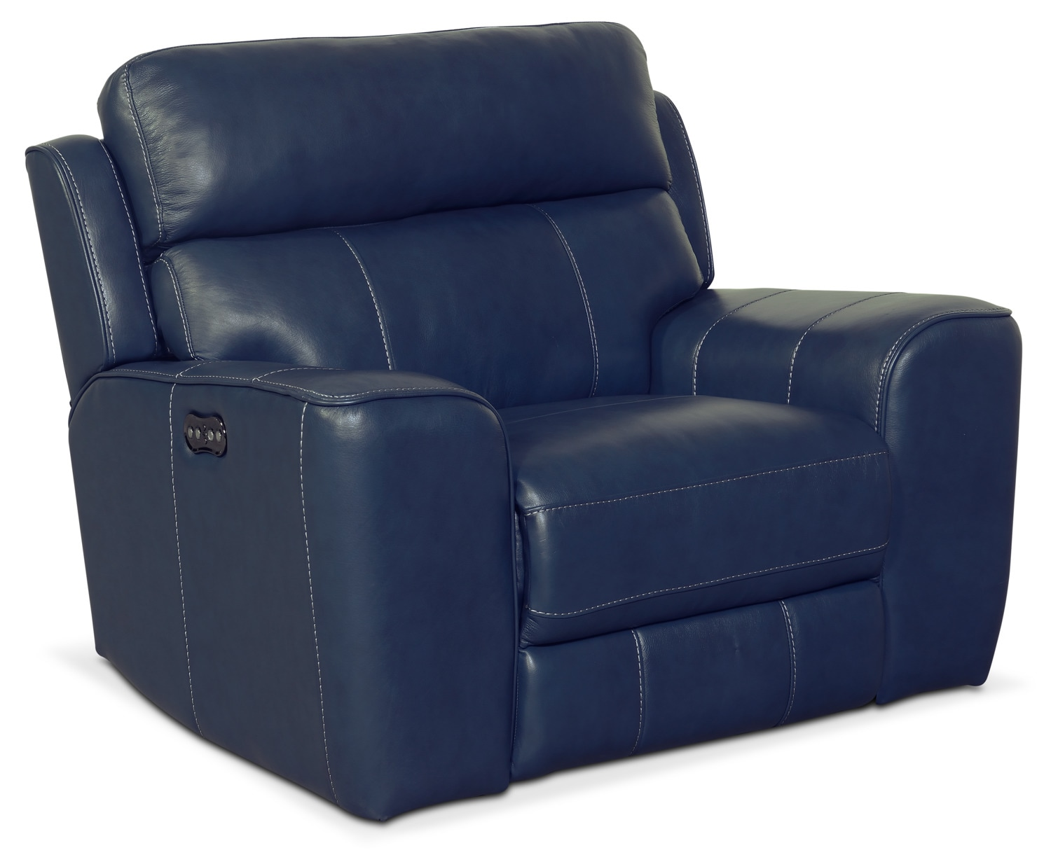 Newport Power Recliner Blue Value City Furniture And