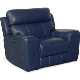 Newport Power Recliner - Blue