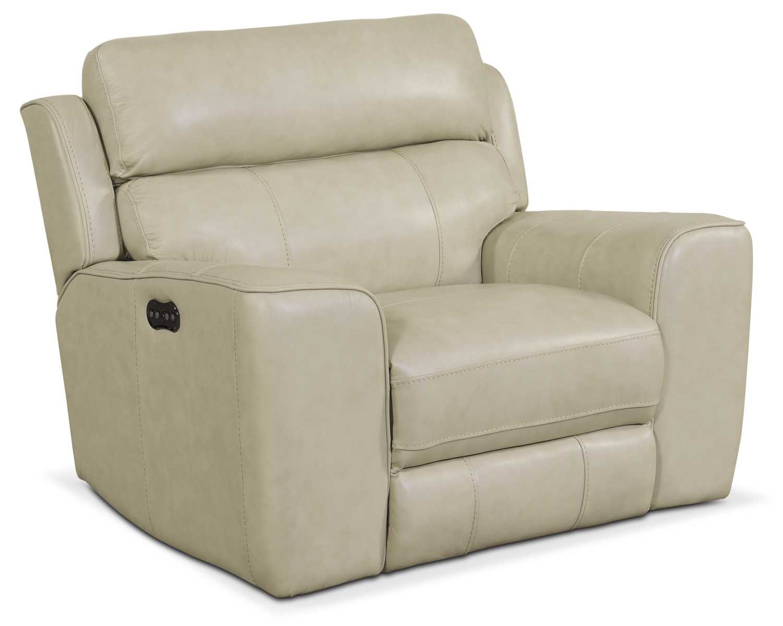 Living Room Furniture - Newport Power Recliner - Cream