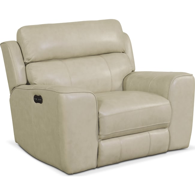 Living Room Furniture - Newport Power Recliner - Cream
