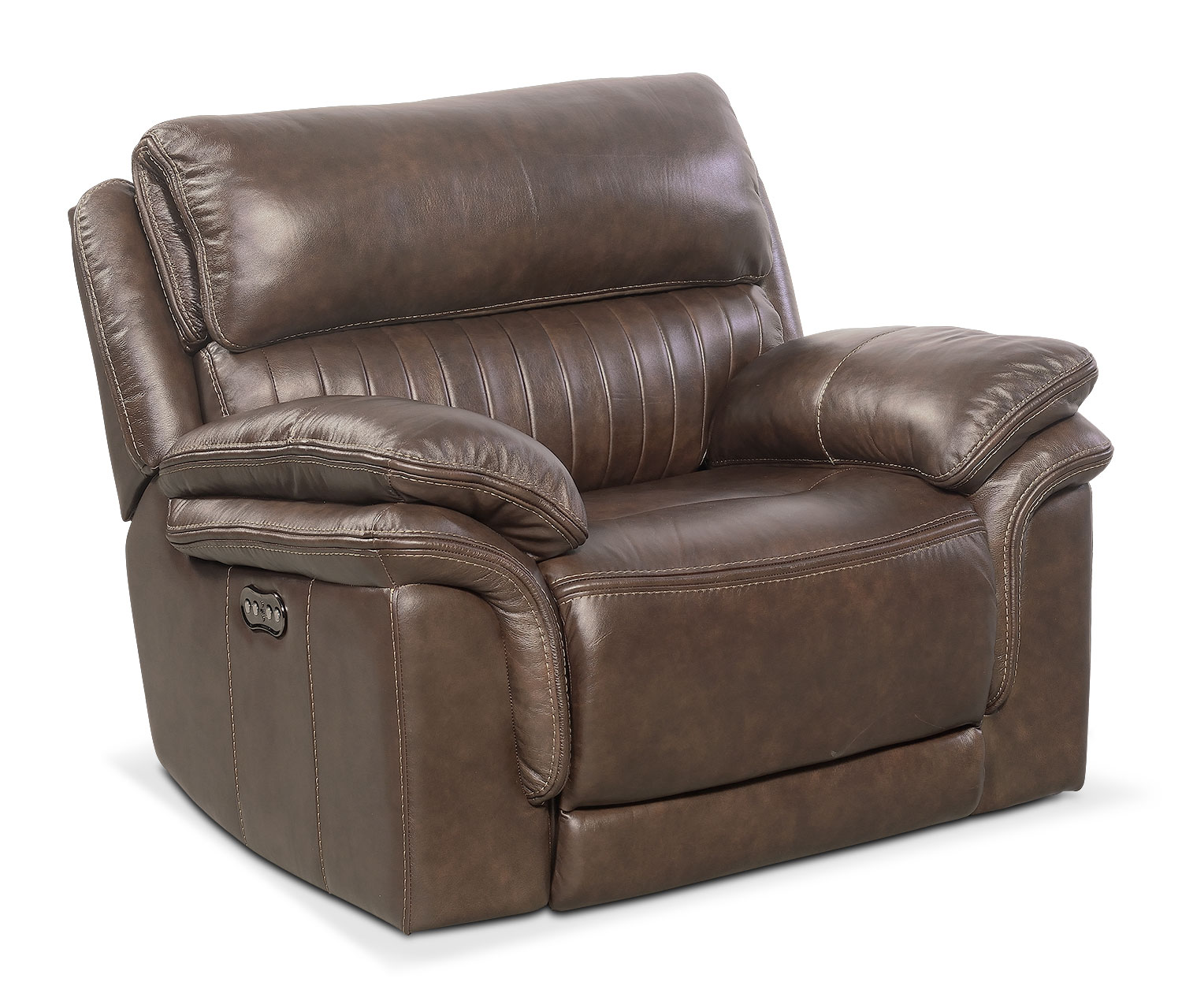 Hover to zoom  sc 1 st  Value City Furniture & Monterey Power Recliner - Brown | Value City Furniture islam-shia.org
