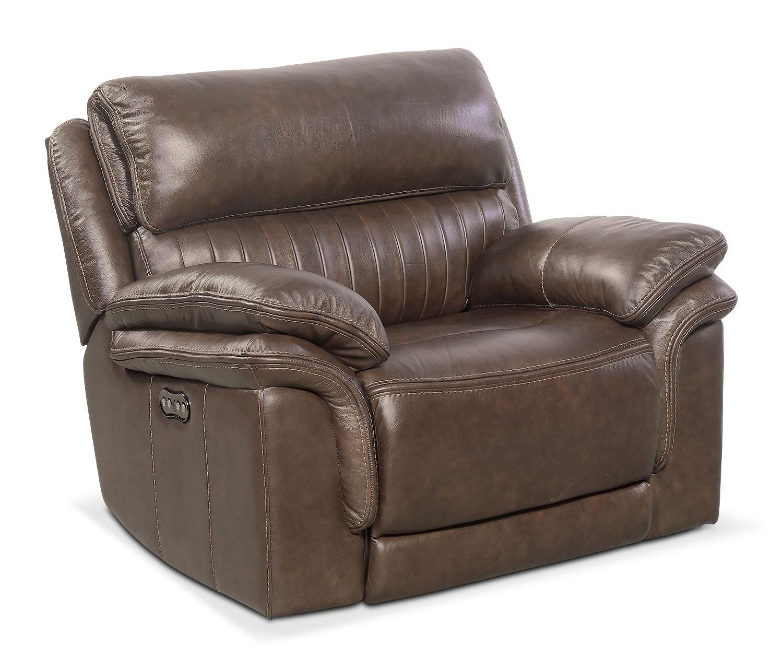 Living Room Furniture - Monterey Power Recliner - Brown