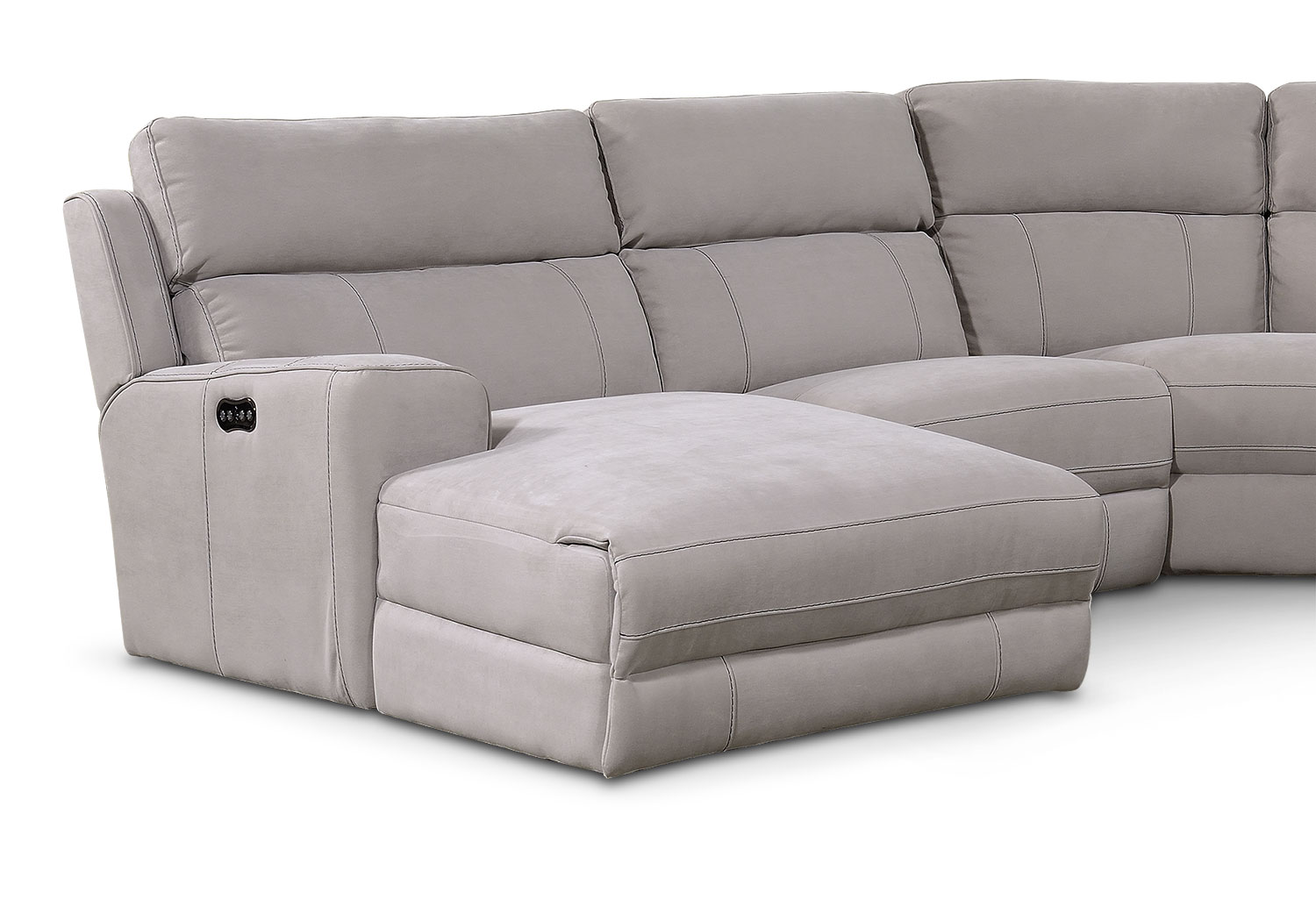 Newport 5 Piece Power Reclining Sectional With Left Facing