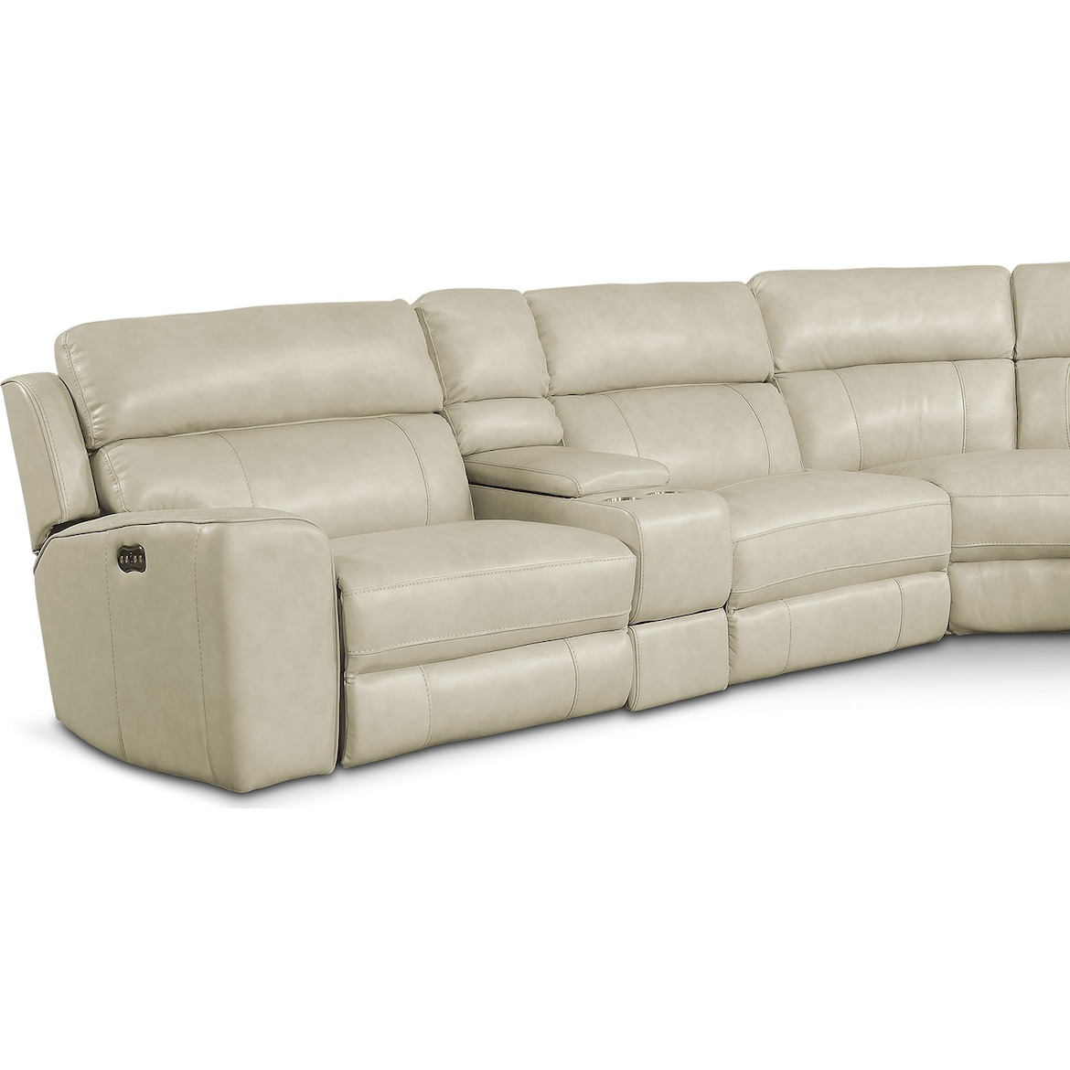 Newport 6-Piece Dual-Power Reclining Sectional with 2 Reclining Seats