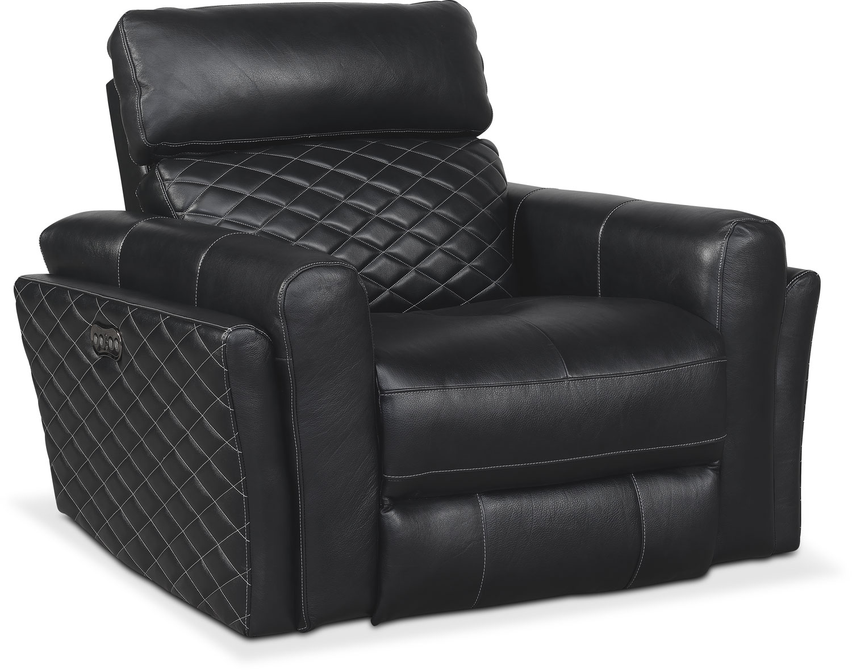 Living Room Furniture - Catalina Power Recliner - Black