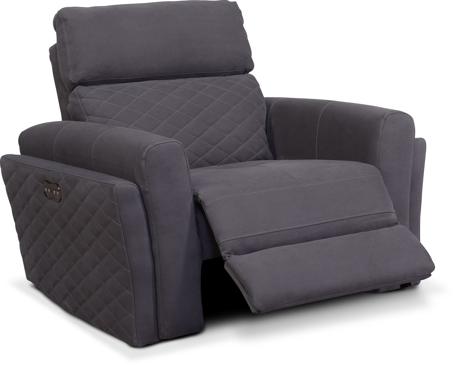 Click to change image.  sc 1 st  Value City Furniture & Catalina Power Recliner - Gray | Value City Furniture islam-shia.org