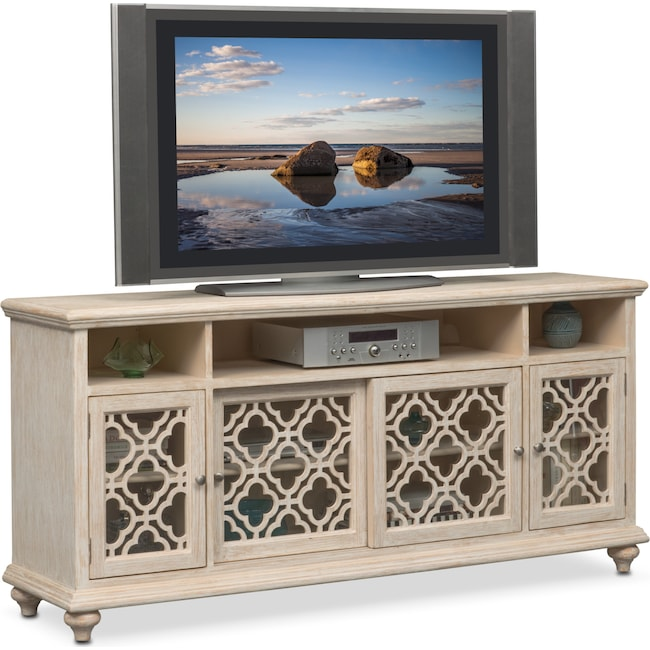 Accent and Occasional Furniture - Chateau Media Credenza - Washed White