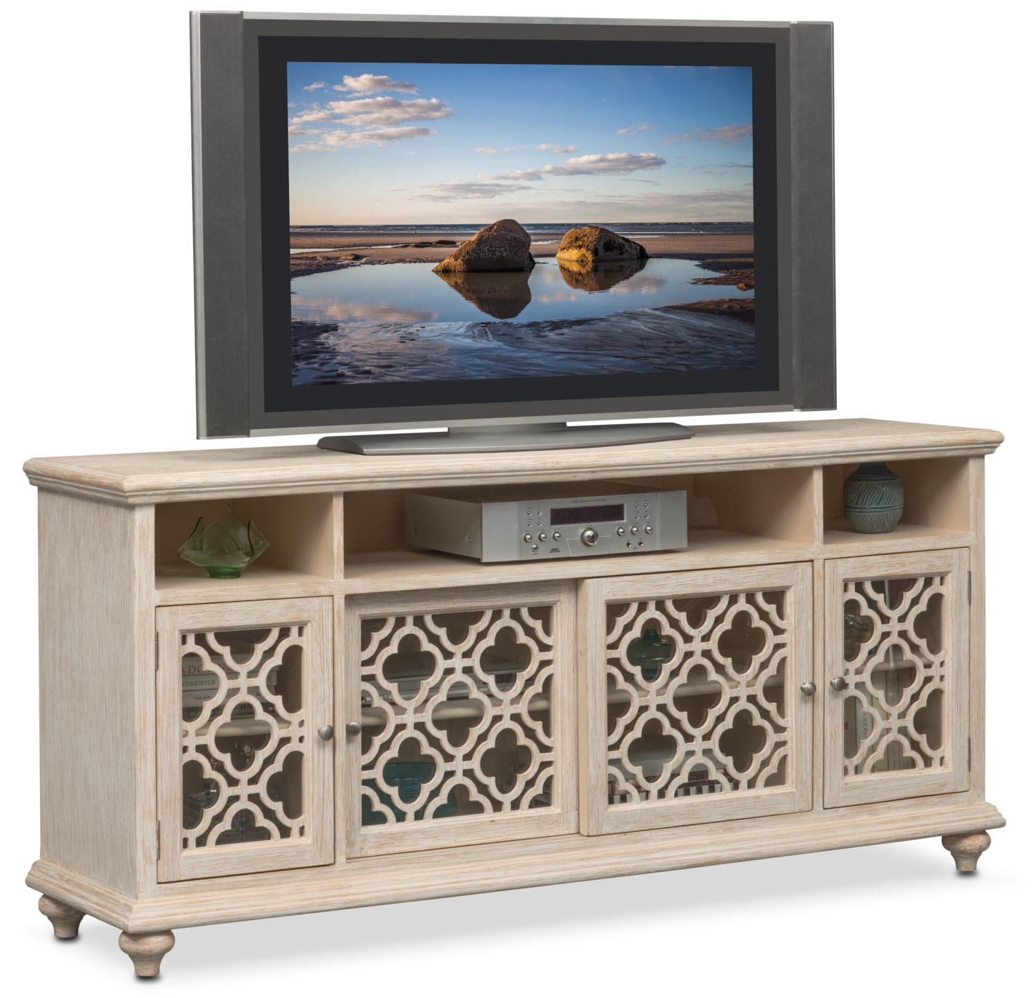 Accent And Occasional Furniture   Chateau Media Credenza   Washed White