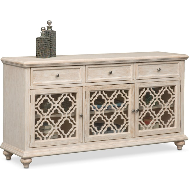 Accent and Occasional Furniture - Chateau Sideboard - Washed White