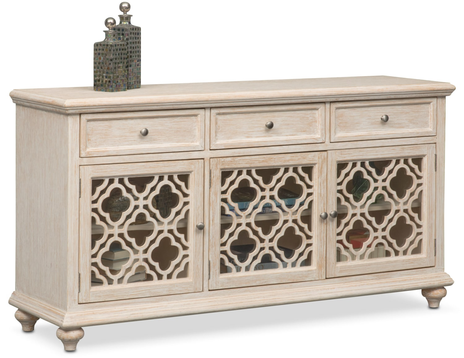 Accent And Occasional Furniture   Chateau Sideboard   Washed White