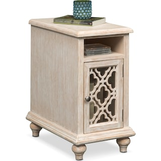 Chateau Chairside Table - Washed White