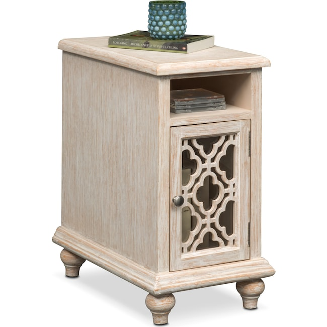 Accent and Occasional Furniture - Chateau Chairside Table - Washed White