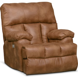 Bronco Dual Power Recliner - Almond