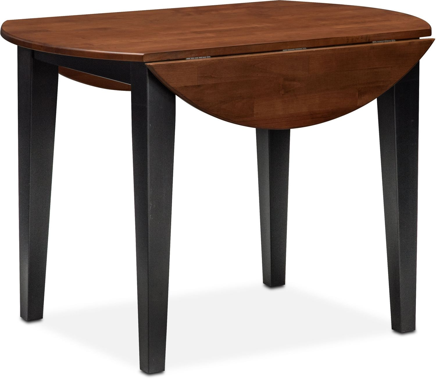 Nantucket DropLeaf Table Black and Cherry Value City Furniture