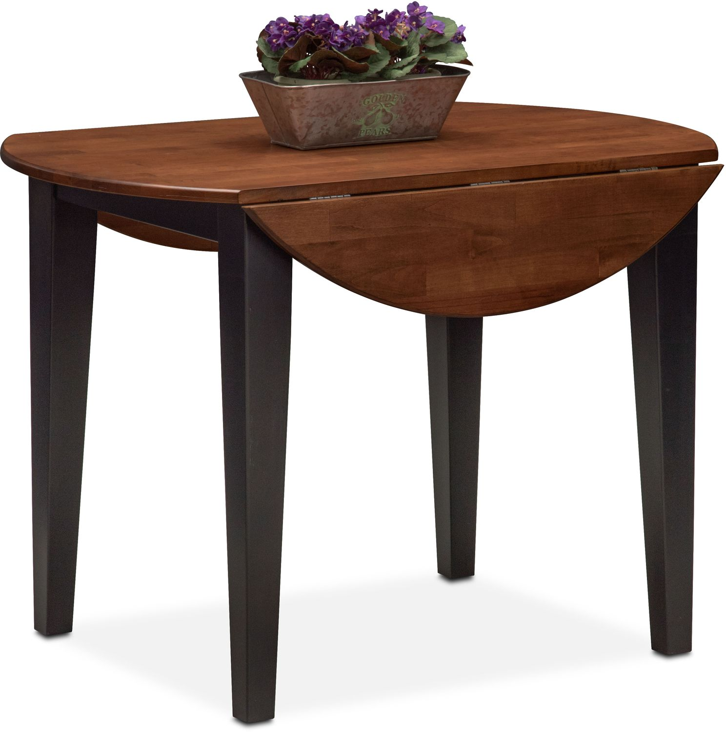 Nantucket Drop Leaf Table Black and Cherry