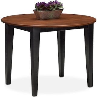 Nantucket Drop-Leaf Table - Black and Cherry