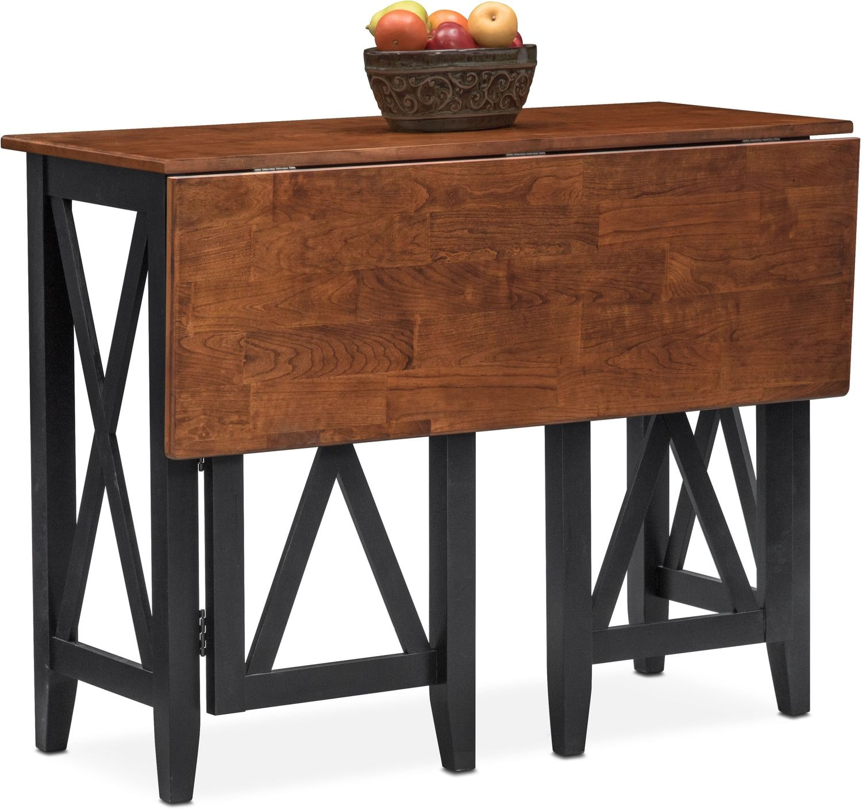 Dining Room Furniture - Nantucket Breakfast Bar - Black and Cherry