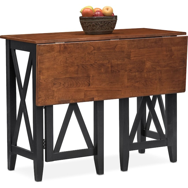Dining Room Furniture - Nantucket Breakfast Bar - Black and Cherry