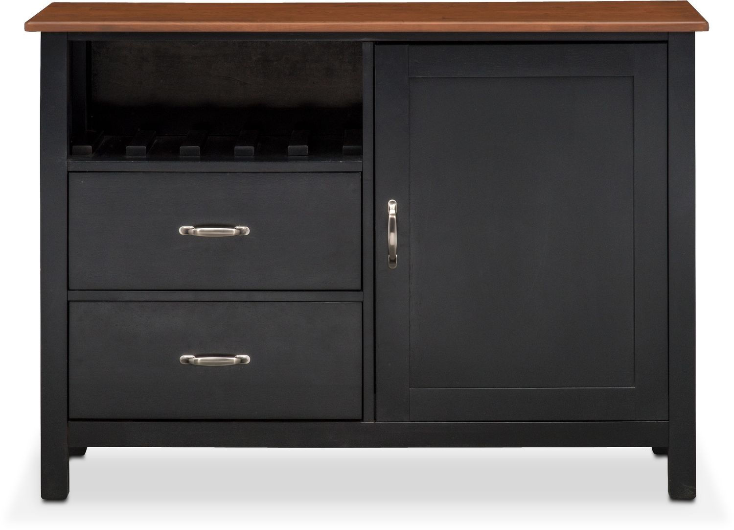 Nantucket Sideboard - Black and Cherry | Value City Furniture