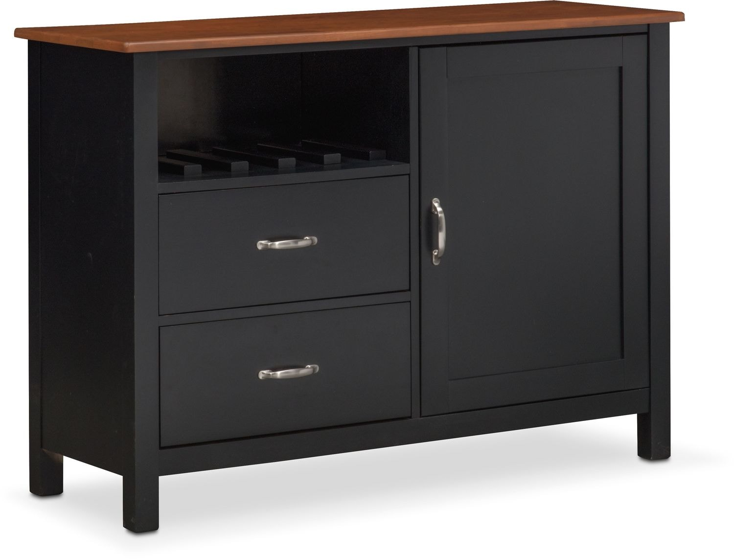Click to change image. - Nantucket Sideboard - Black And Cherry Value City Furniture