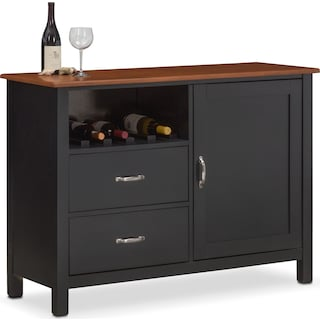 Nantucket Sideboard - Black and Cherry