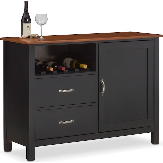 Dining Room Furniture - Nantucket Sideboard - Black and Cherry