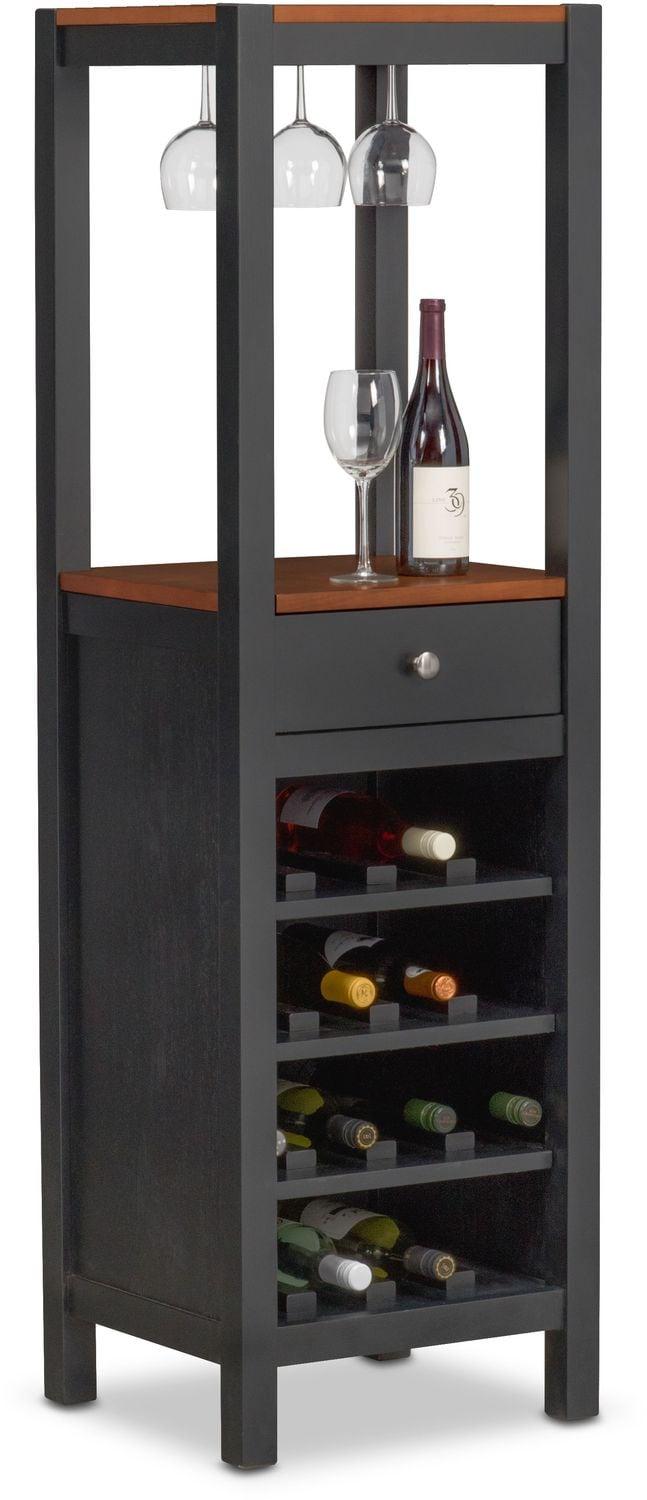 Wine Cabinet Black Nantucket Wine Cabinet Black And Cherry Value City Furniture
