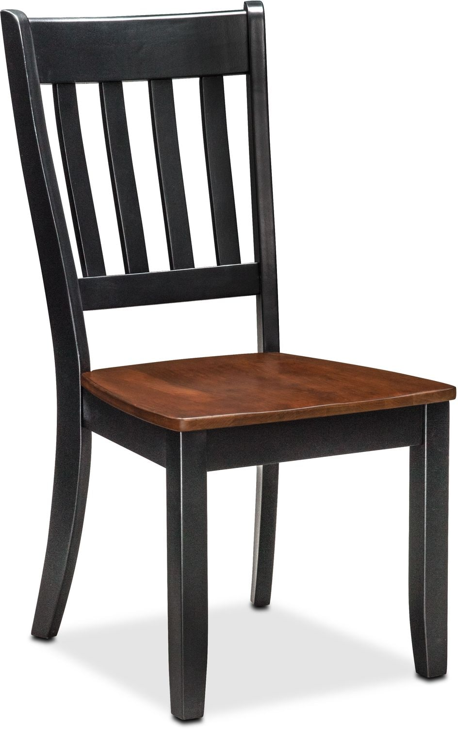 Dining Room Furniture - Nantucket Slat-Back Chair - Black and Cherry