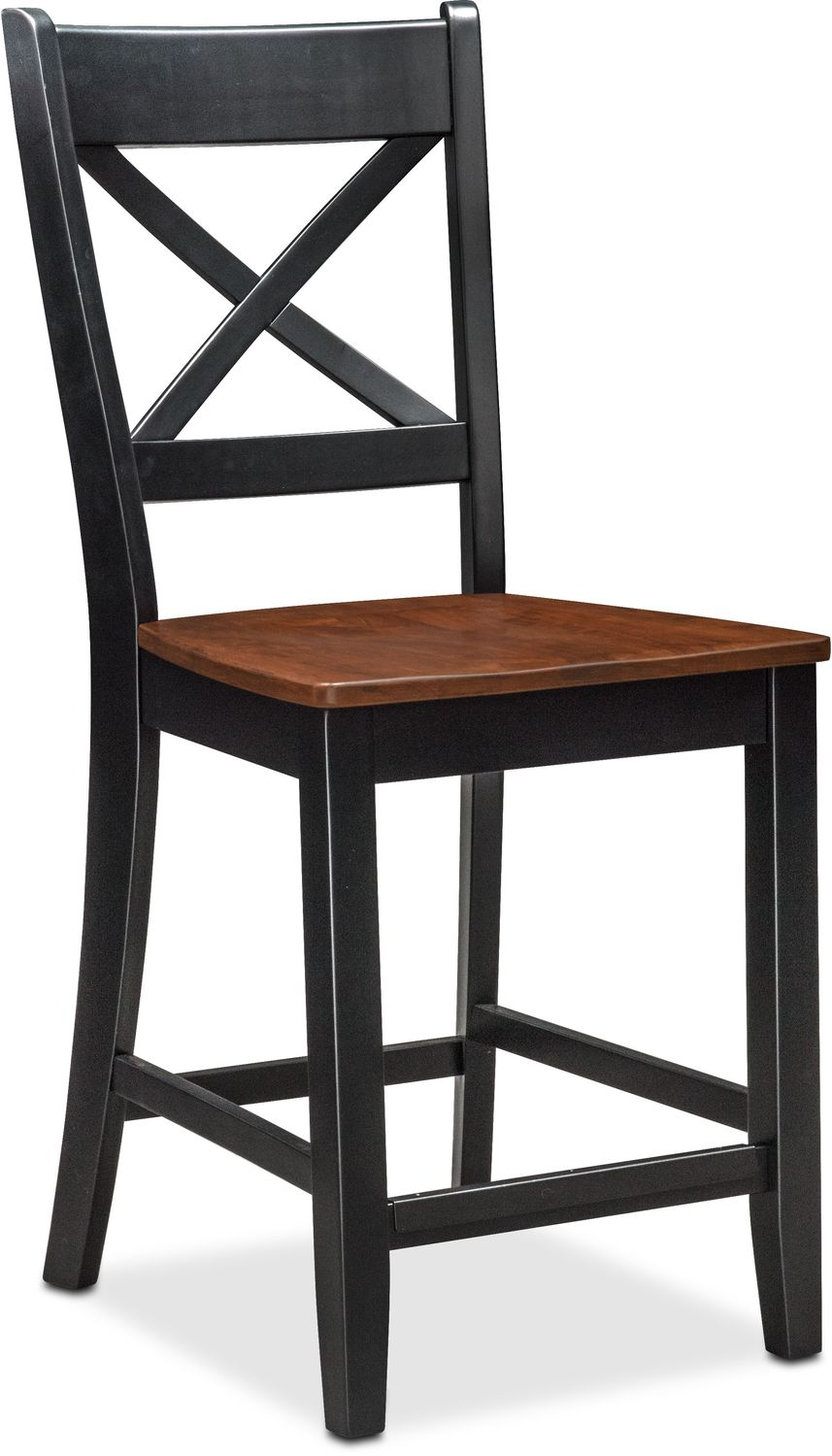 Nantucket Counter-Height Side Chair - Black and Cherry