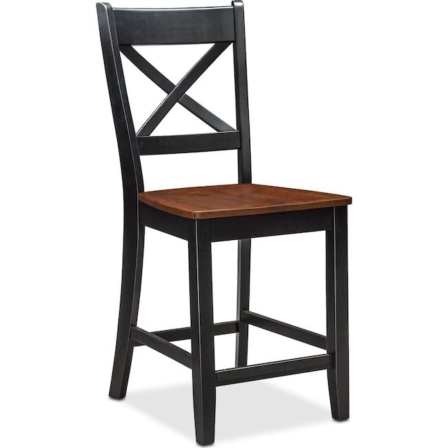 Dining Room Furniture - Nantucket Counter-Height Side Chair - Black and Cherry