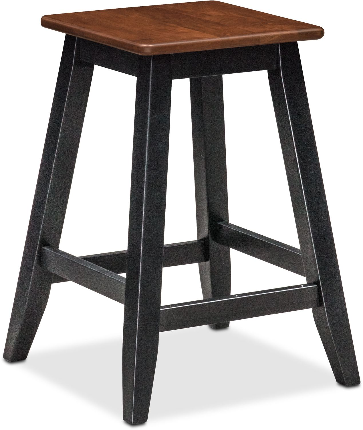 Nantucket Counter Height Stool   Black And Cherry