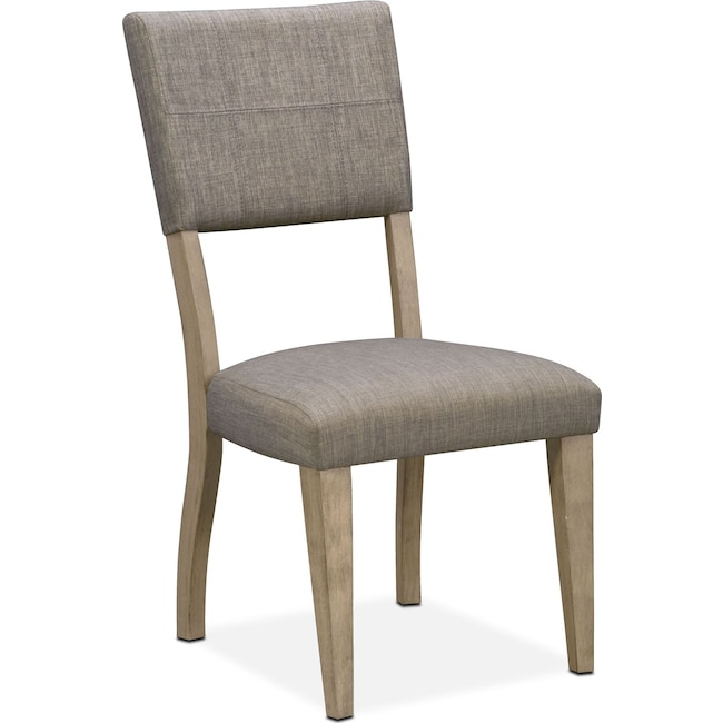 Dining Room Furniture - Tribeca Upholstered Side Chair - Gray
