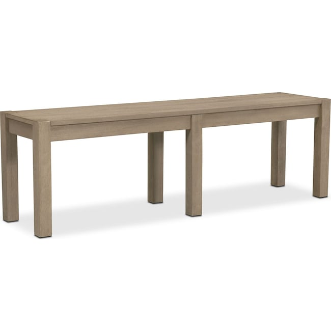 Accent and Occasional Furniture - Tribeca Bench - Gray