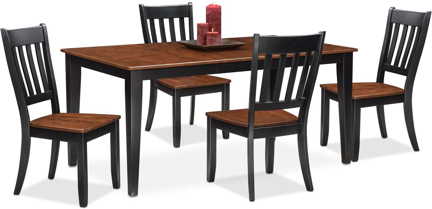 Nantucket Table and 4 Side Chairs - Cherry