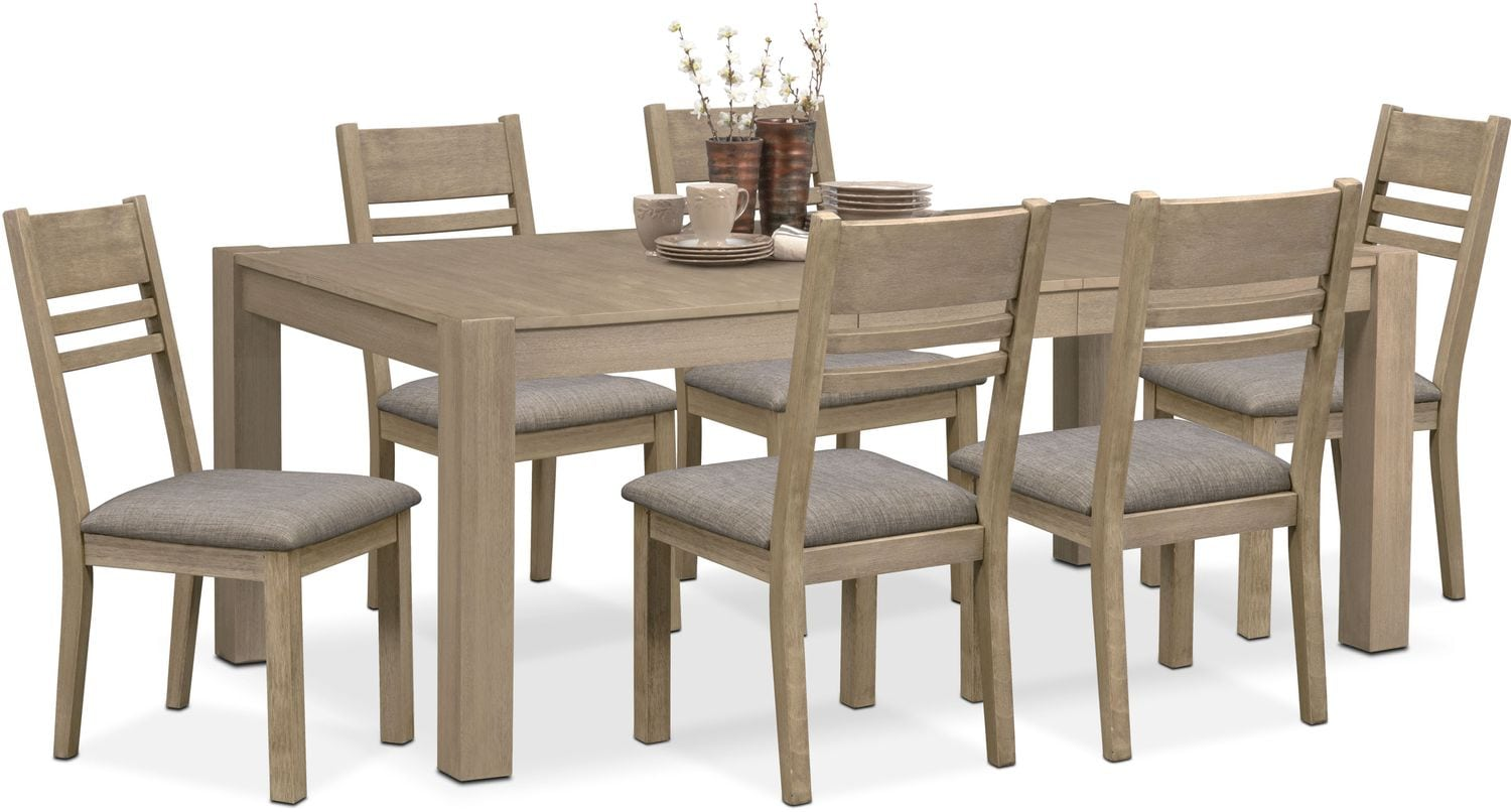 Tribeca Table And 6 Side Chairs Gray