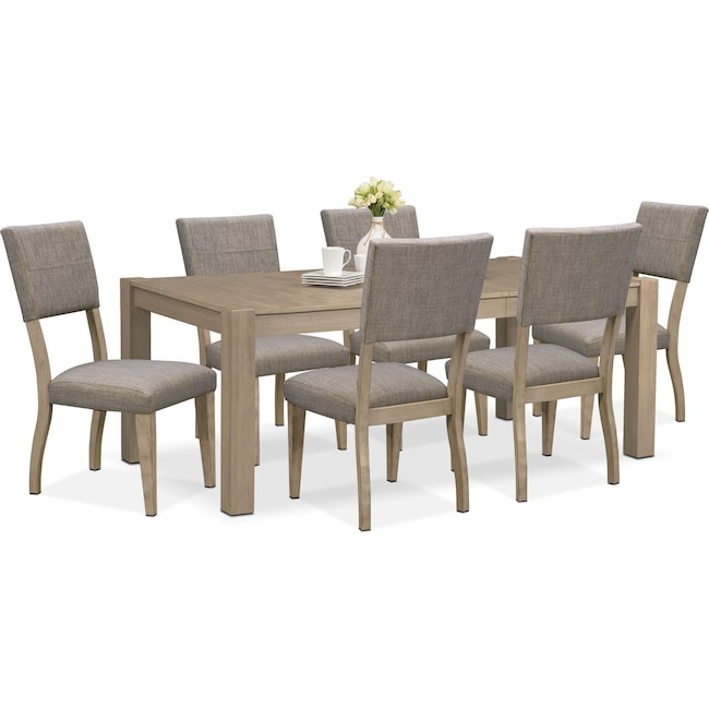 Dining Room Furniture - Tribeca Dining Table and 6 Upholstered Dining Chairs