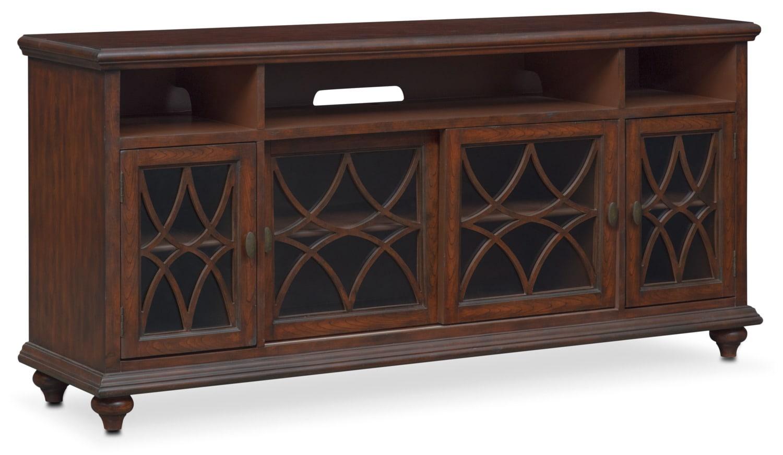 Rivoli Media Credenza - Brown   Value City Furniture