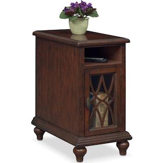 Rivoli Chairside Table - Brown