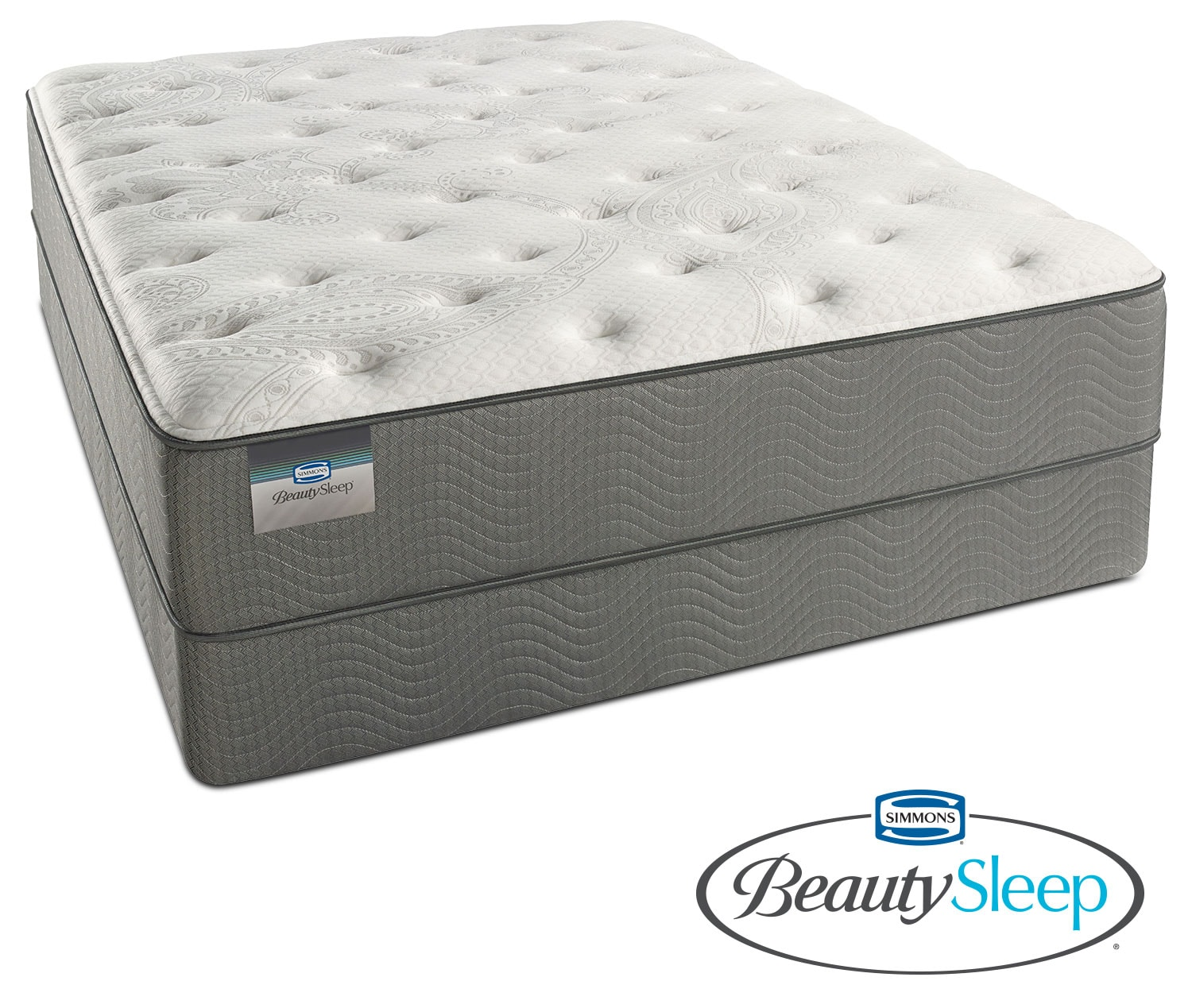 Stags Leap Luxury Firm Twin Mattress and Low Profile Foundation