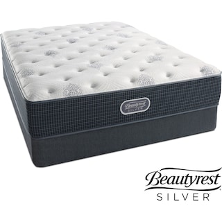 Urban Mist Plush Full Mattress and Low-Profile Foundation Set